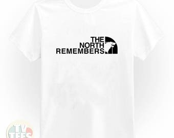 The North Remembers Game Of Thrones Tee Shirt in Black and White