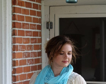 Robins Egg Blue Scarf