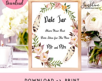 Date Jar Sign, Date Night Jar, Date Night Sign, Date Night Ideas, Date Ideas, Wedding Sign, Printable Sign, Date Night Sign, Date Sign