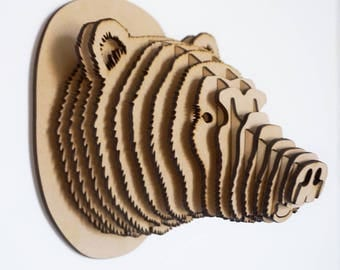 3D Puzzle GRIZZLY Head