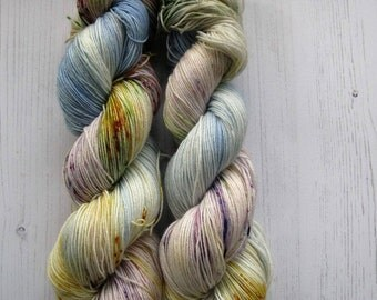 """4 Ply Sock Yarn """"Diana """" colourway,inspired by one of Princess Dianas gowns."""