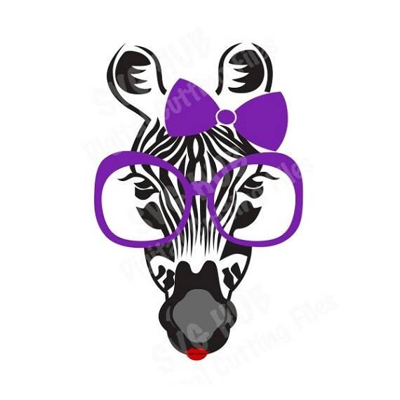 Zebra With Glasses Svg Cutting File Zebra Svg Cutting Files