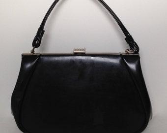 Vintage 1960s black handbag