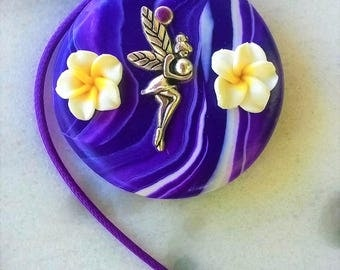Handmade Necklace/polymer clay/fairy/charm/flowers