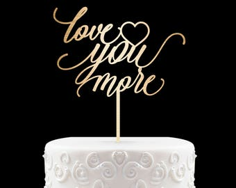 Love Cake Topper Uniqe Cake Topper for Wedding Modern Wedding Cake Topper, Calligraphy Wedding Cake Topper Wedding Cake Topper 37