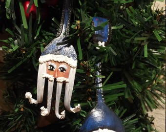 Victorian Mr and Mrs Santa Clause Fork and Spoon, Repurposed fork and spoon Mr and Mrs Santa Clause,  Christmas ornaments