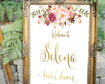 Bridal shower welcome sign, Bridal welcome sign, welcome sign, Printable bridal shower sign, Welcome wedding sign, Bridal shower sign #25