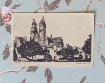 Postcard - France - Tours - Square Emile-Zola