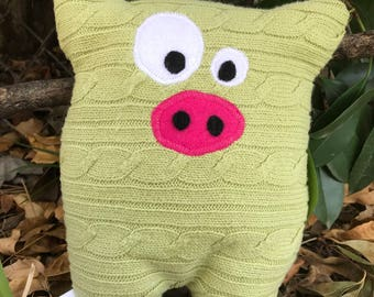 Handmade stuffed toy, Gifts for kids, Up-cycled Sweater toy, Christmas gifts