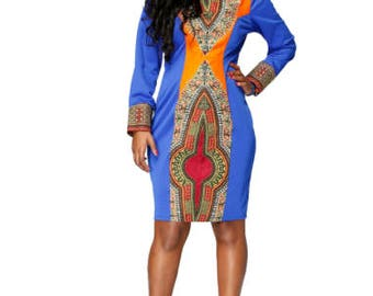 Kay African Dashiki Dress