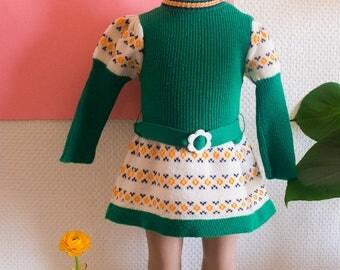 Multicolored wool dress