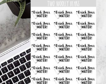 Drink Your Water Planner Stickers