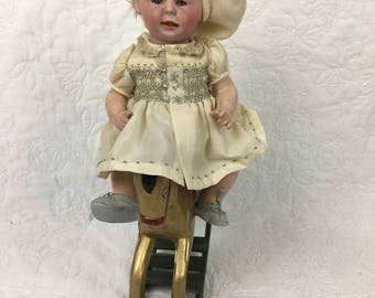 Antique 10 inch German Bisque Character 1428 Freddie Boy By Simon Halbig Doll