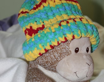 Crochet Kids Hat - Thick Blanket Yarn for Warmth