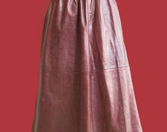 Vintage leather 70's skirt