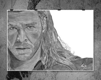 Thor - Chris Hemsworth - Original Drawing