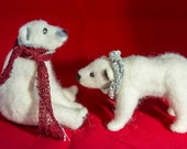 Needle-felted polar bear ...
