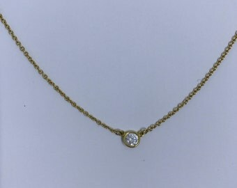TIFFANY & CO. Diamonds by the Yard Solitaire Necklace