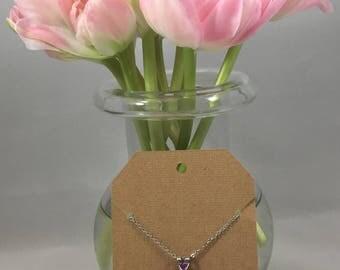 Rose Necklace Lavender Purple