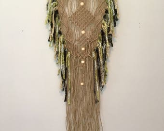 Macrame Wall Hanging Jute Macrame Boho Decor Jungalow Fibre Art