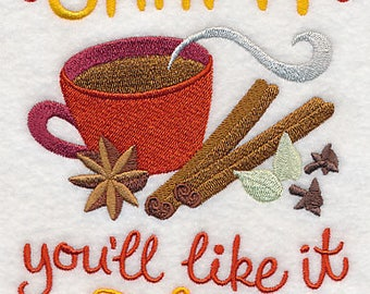 Chai It You'll Like It, Embroidered Dish Towel, Tea Towel, Tea Kitchen Decoration, Kitchen Accessory, Housewarming Gift, Tea Lovers Gift