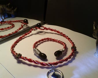 Red  Copper  Necklace Set