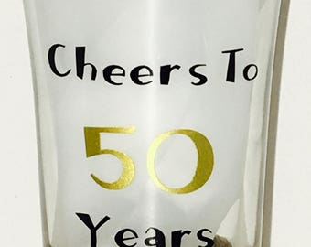 Cheers to 50 Years (Sold in Groups of 4)
