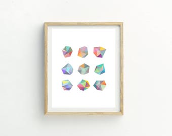 Crystals Print | Crystals | Crystals picture | Crystals Wall Art | Crystal Art | Contemporary Print | Abstract Wall Art | Abstract Picture