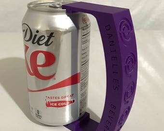 Custom 3D Printed Can Handle - Add A Unique Message To This Handle And Always Know Which Drink Is Yours!