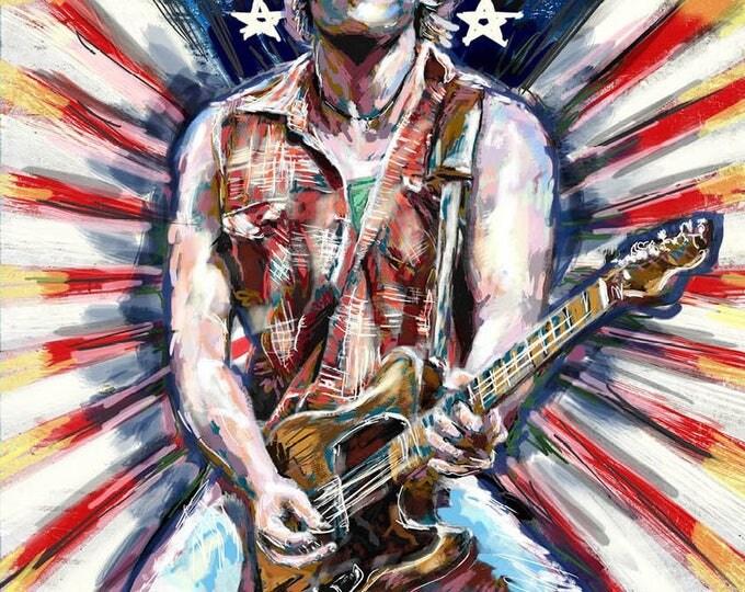 Framed Billy Bruce Springsteen 11x17 Black Slim