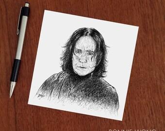 Severus Snape Harry Potter Art Print