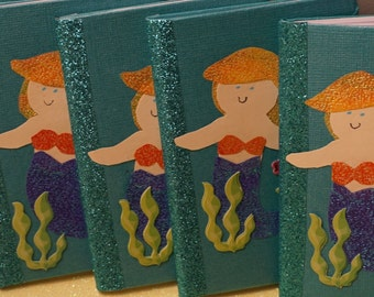 5 Mermaid / Under the Sea Mini Notebook / Composition Book
