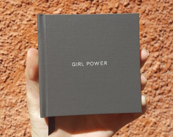 GIRL POWER Notebook / Sketchbook / Journal - Handmade - Unique - Square (10.5 x 10.5 cm) - Feminist collection