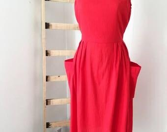 Vestido rojo Vintage
