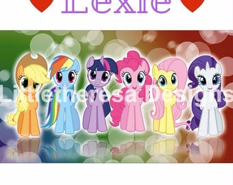 My Little Pony Iron On With Childs Name,Digital Transfer,Digital Iron On,DIY