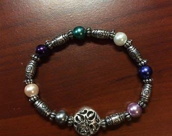 Bracelet / Stretchy / Glass Pearl Beads