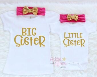Big Sister Shirt, Matching Sister Outfits, Big Sister Outfit, Big Sister Little Sister Outfits, Little Sister Outfit, Sibling Outfits, SS3HP
