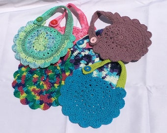 Crochet Circular Baby Bib