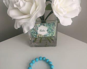 Summer Turquoise Rubberized Bracelet
