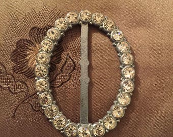 Vintage Buckle - Sweet Oval Rhinestone Buckle