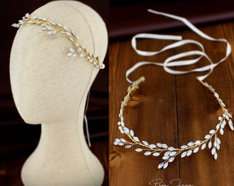 Wedding hair Headband White opal Hair Jewelry Bridal hair vine Wedding hair accessories Bridal hair piece Wedding hair Jewelry