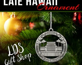 Laie Hawaii LDS Temple Ornament