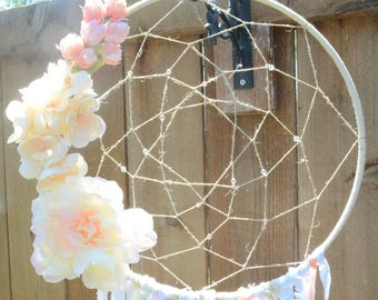 Large Pink Dream Catcher