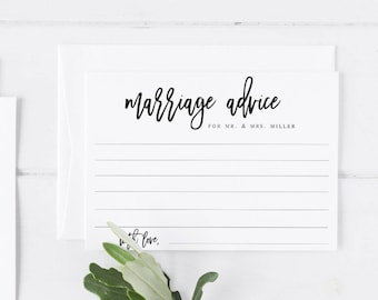 Marriage advice for the bride and groom Template  Wedding Advice Advice for the Bride Card Marriage Advice Card Rustic Wedding Advice  #WP40