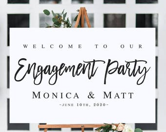 Welcome To Our Engagement Sign Template Wedding DIY
