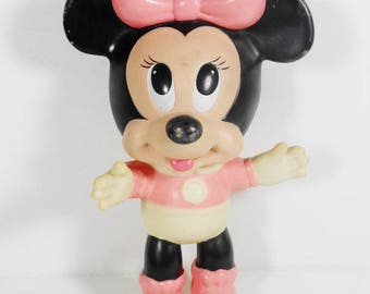 Vintage 1950s Rubber Minnie Mouse Doll - Disney