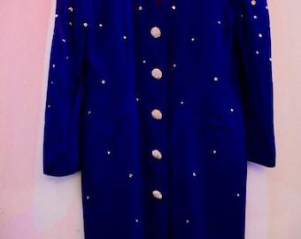 Vintage Purple Women's 80s Sparkling Jacket
