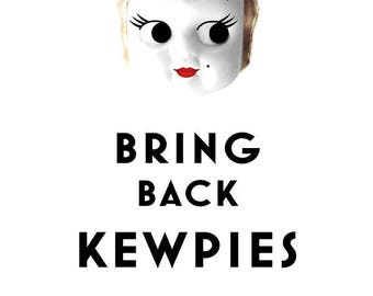 Kewpie Queen Bring Back Kewpies tea towel
