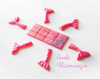 Pink Flamingo Wax Melts (3.1 Oz.) - Tropical Wax Melts - Hand Poured Wax Melts - Handmade Wax Melts - Mermaid Tails - Mermaid - Wax Tarts