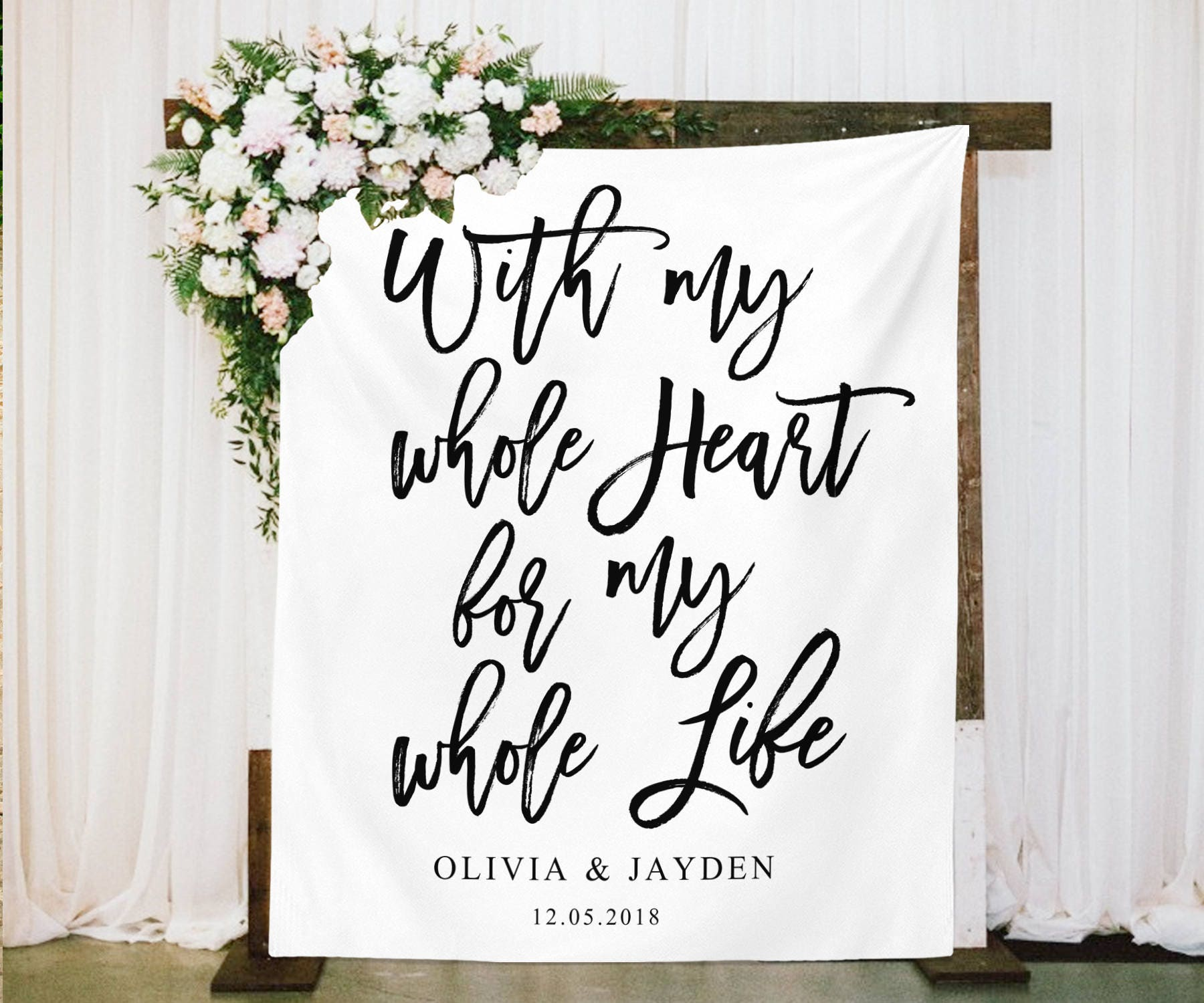 Country Wedding Backdrops: Rustic Wedding Backdrop Decoration With My Whole Heart For My
